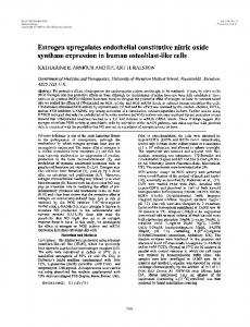 Estrogen Upregulates Endothelial Constitutive Nitric Oxide Synthase ...