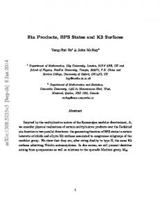 Eta Products, BPS States and K3 Surfaces