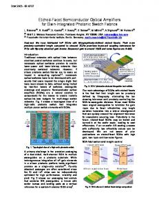 Etched-Facet Semiconductor Optical Amplifiers for Gain ... - IEEE Xplore