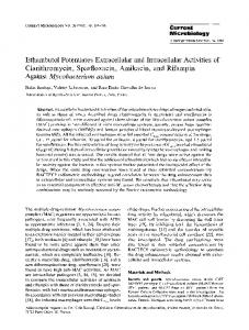 Ethambutol potentiates extracellular and intracellular ... - Springer Link