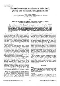 Ethanol consumption of rats in individual, group, and ... - Springer Link