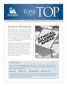 Ethical Dilemmas - Global Institute of Internal Auditors