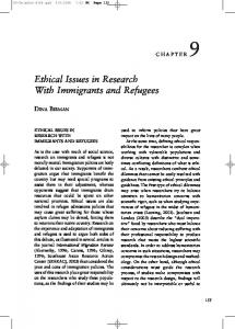 Ethical Issues in Research With Immigrants and Refugees - Corwin