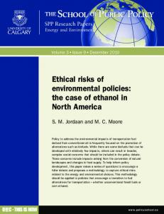 Ethical risks of environmental policies: the case of ... - SSRN papers