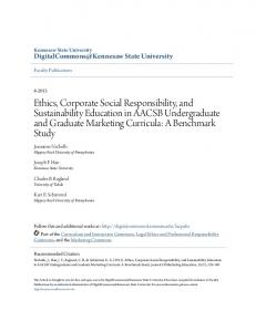 Ethics, Corporate Social Responsibility, and Sustainability Education ...