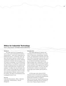 Ethics for Industrial Technology