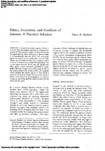 Ethics, Incentives, and Conflicts of - Semantic Scholar