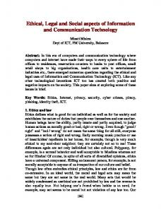 Ethics of Information and Communication Technology - arXiv
