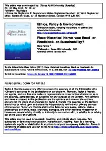 Ethics, Policy & Environment Place-Historical Narratives - PhilPapers