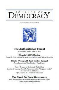 Ethiopia - Journal of Democracy