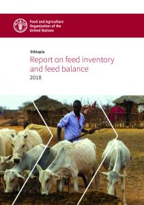 Ethiopia: Report on feed inventory and feed balance (2018) - FAO