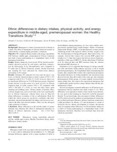 Ethnic differences in dietary intakes, physical activity, and energy ...