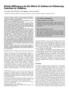 Ethnic Differences in the Effect of Asthma on ... - ATS Journals