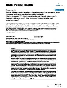 Ethnic differences in the effect of environmental stressors on blood ...