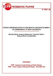 Ethnic Discrimination in the Rental Housing Market