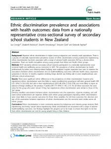 Ethnic discrimination prevalence and - BioMedSearch