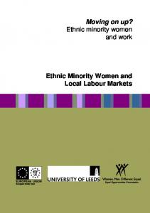 Ethnic Minority Women and Local Labour Markets