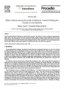 Ethnic relation among the youth in Malaysia: toward fulfilling ... - CORE