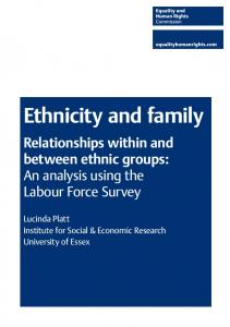 Ethnicity and Family - Equality and Human Rights Commission