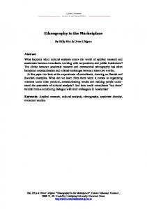 Ethnography in the Marketplace