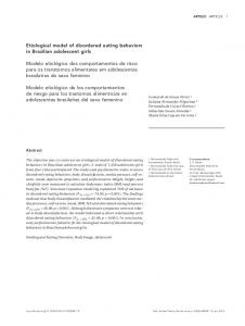 Etiological model of disordered eating behaviors in ... - Scielo.br