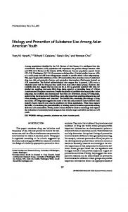 Etiology and Prevention of Substance Use Among Asian American ...