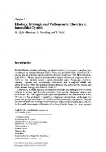 Etiology: Etiologic and Pathogenetic Theories in Interstitial Cystitis