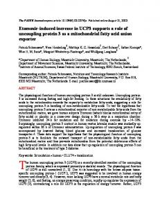 Etomoxir-induced increase in UCP3 supports a role of uncoupling ...