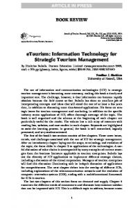 eTourism: Information Technology for Strategic Tourism Management
