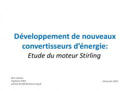 Etude du moteur Stirling - Events