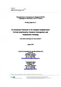 EU Democracy Promotion in the European ... - NCCR Democracy