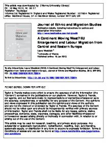 EU Enlargement and Labour Migration from Central ...
