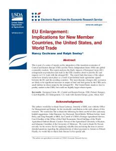 EU Enlargement: Implications for New Member Countries, the United ...
