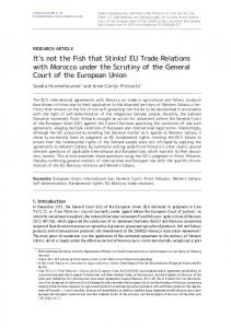 EU Trade Relations with Morocco under the Scrutiny of the General ...