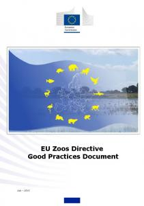 EU Zoos Directive Good Practices Document - European Commission