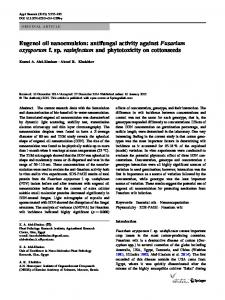 Eugenol oil nanoemulsion: antifungal activity againstFusarium ...