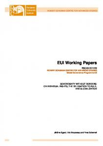 EUI Working Papers - Cadmus, EUI Research Repository - European