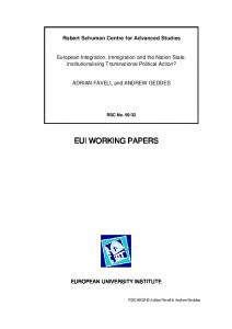 eui working papers - CiteSeerX