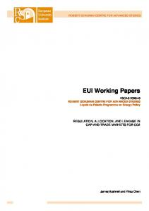 EUI Working Papers | ResearchGate