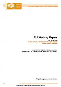 EUI Working Papers - SSRN papers