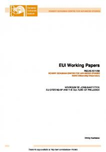 EUI Working Papers - SSRN