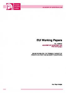 EUI Working Papers - Works Bepress