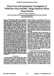 EuMC: Phase Error and Nonlinearity Investigation of