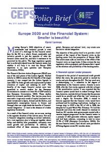 Europe 2020 and the Financial System - Archive of European Integration