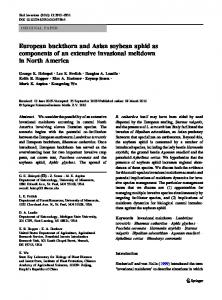 European buckthorn and Asian soybean aphid as ... - Springer Link