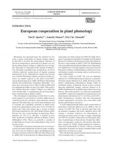European cooperation in plant phenology