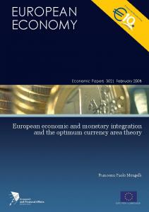 European economic and monetary integration, and the optimum ...