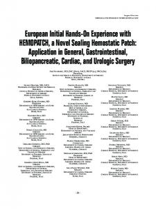 European Initial Hands-On Experience with