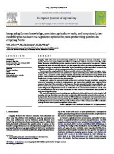 European Journal of Agronomy Integrating farmer ...