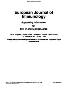 European Journal of Immunology